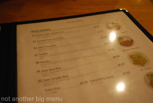 Misato - menu