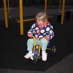 Upset that I don't fit on the tricycle<br/>23 Jan 2010