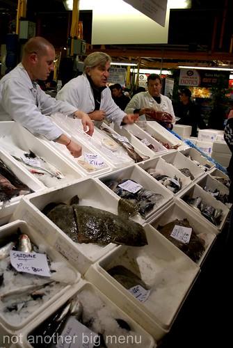 Billlingsgate fish market - fishmongers 2