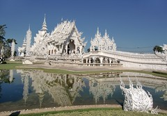 White temple,Wat Rong Khun, Chiang Rai, Thailand photo by Meino NL