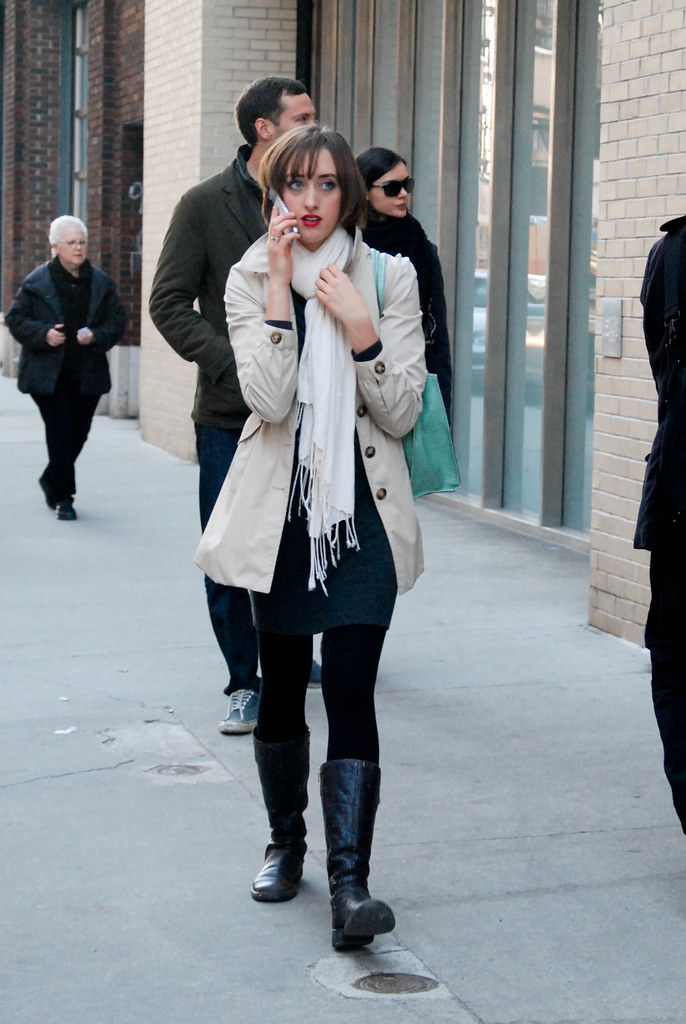 Trench and Red Lipstick, West Chelsea
