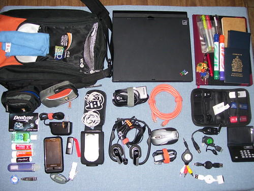Daily Gear bag and contents