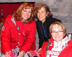 Caitlin & Cdn curling team