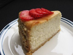 Guava Cheesecake with a Cashew Ginger Crust