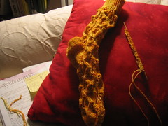 The completed sock, part one
