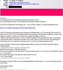 Telekom: Phishingversuch