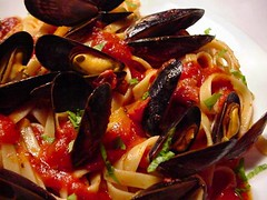 Mussels Marinara closer