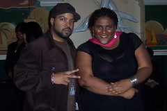 Faith and Ice Cube @ FX Premiere of Black. White.