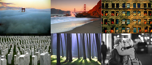 Flickr, Selections from the first 40 images in an image search query for San Francisco