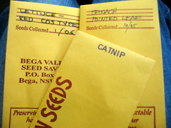 Seed packets from Bega