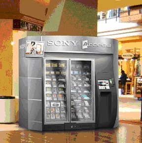Sony vending machine