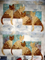 Fan Cats Quilt Top photo by CQGirl