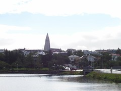View from the side of Tjörnin