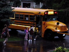 First bus to school