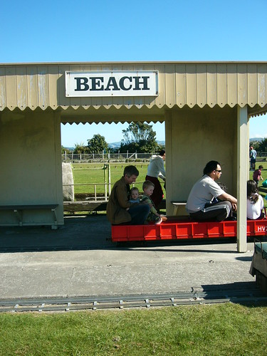Beach train station