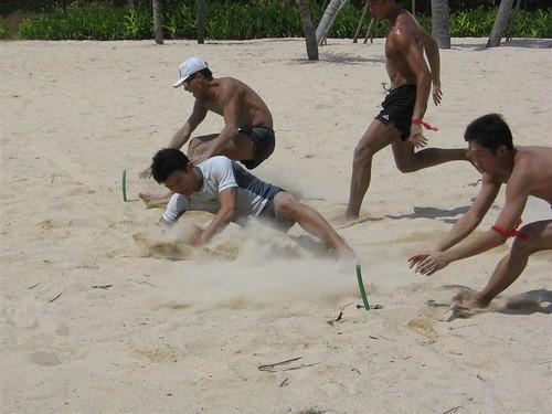 Beach Flag: Sprinting for a 'flag'