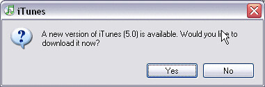 Update to iTunes 5?