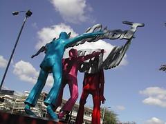 Sculpture: The 11th Commandment by Sokari Douglas Camp