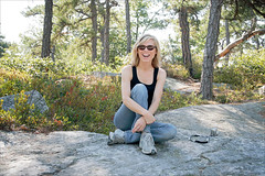 Ingrid in the Gunks