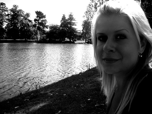 blonde by the lake