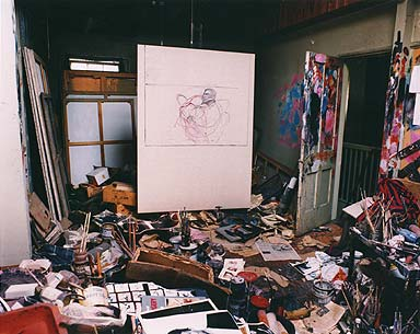 Bacon's studio looks like mine
