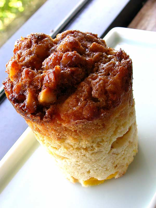 mango macadamia crunch muffin