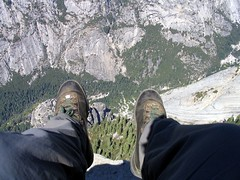 View straight down from Half Dome