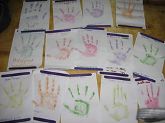 our hand prints