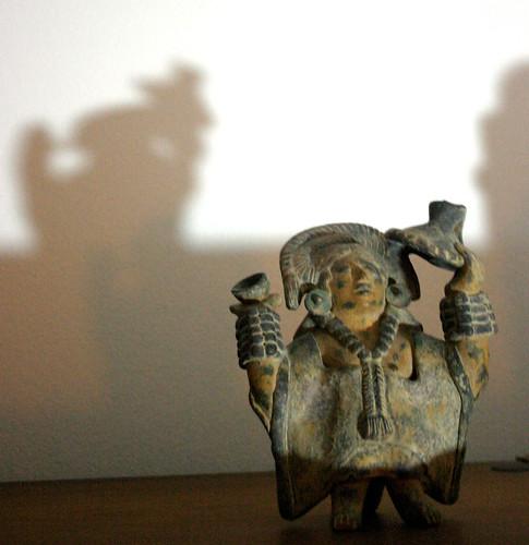 Aztec God Casts a Shadow