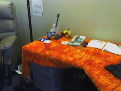 Orange Shag Desk