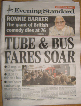Tube and Bus Fares Rise