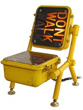 walk dont walk chair
