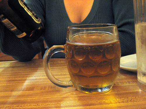 Funny mug o' beer (Sapporo)