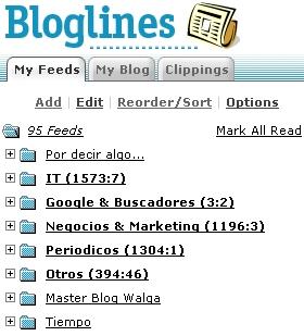 Feeds en Bloglines