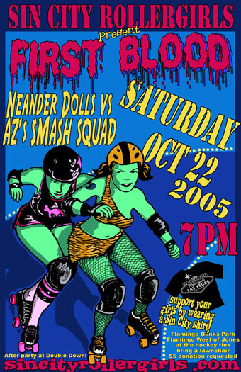 Sin City Rollergirls - First Blood