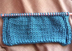 the start of the neckwarmer