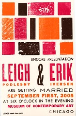 Wedding invitation by www.hatchshowprint.com