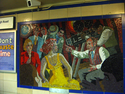 Hitchcock Leytonstone London Underground Mosaics - from ticket hall