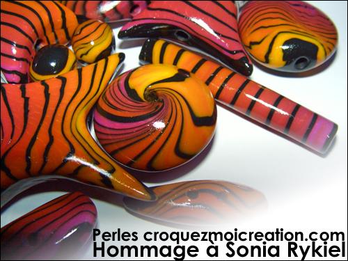 Perles croquezmoicreation.com Hommage à Sonia Rykiel