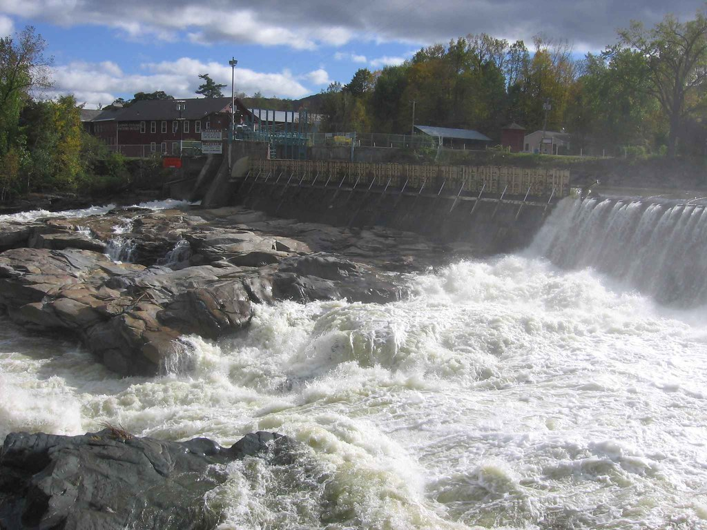 Photo of temporary floodgates