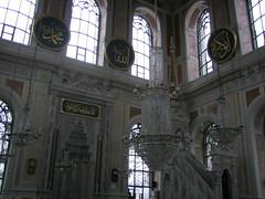 Inside the Ortaköy Mosque. Beautiful.