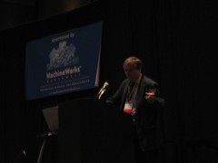 RIchard Bartle giving keynote at ACG 2005
