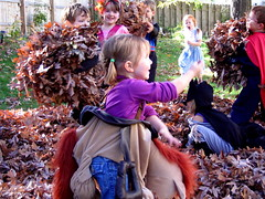 Halloween leaf battle