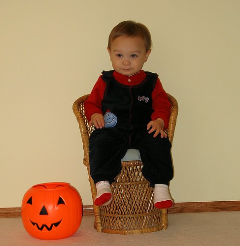 Posing with Pumpkin