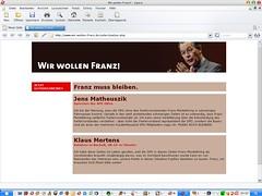 www.wir-wollen-franz.de