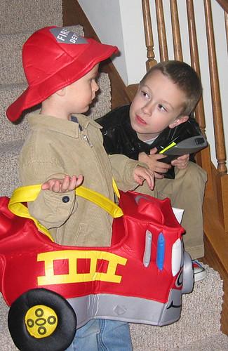 Fireman & Firetruck