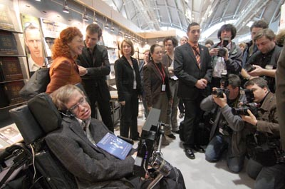 Stephen Hawking at the Frankfurt Book Fair 2005