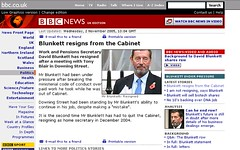 BBC NEWS - Politics - Blunkett resigns from the Cabinet