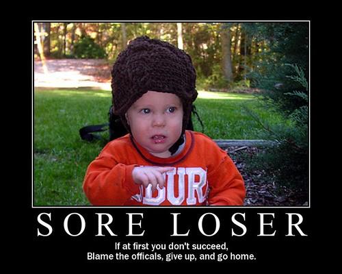 Liberals are sore losers