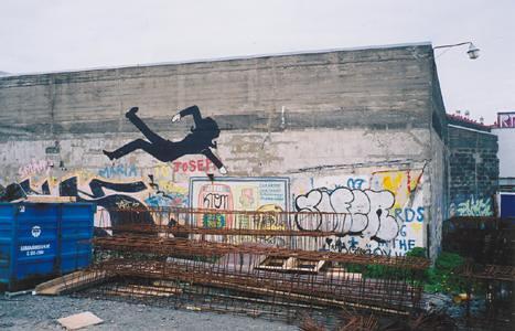 Shadow dancing graffiti